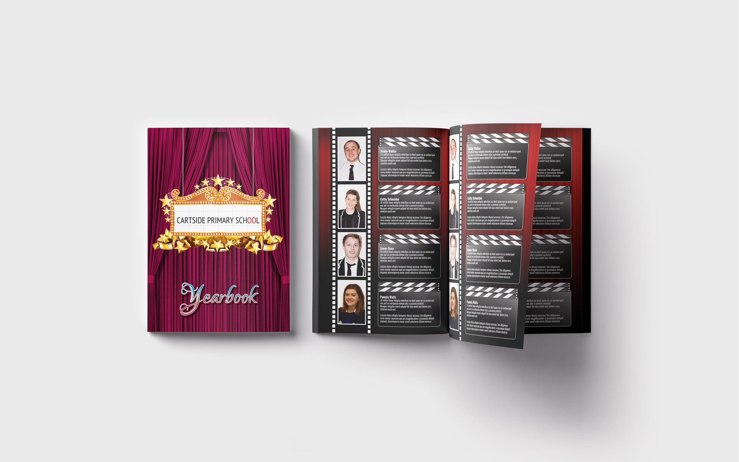 Primary Yearbooks Elephant Yearbooks Cinema Mockup