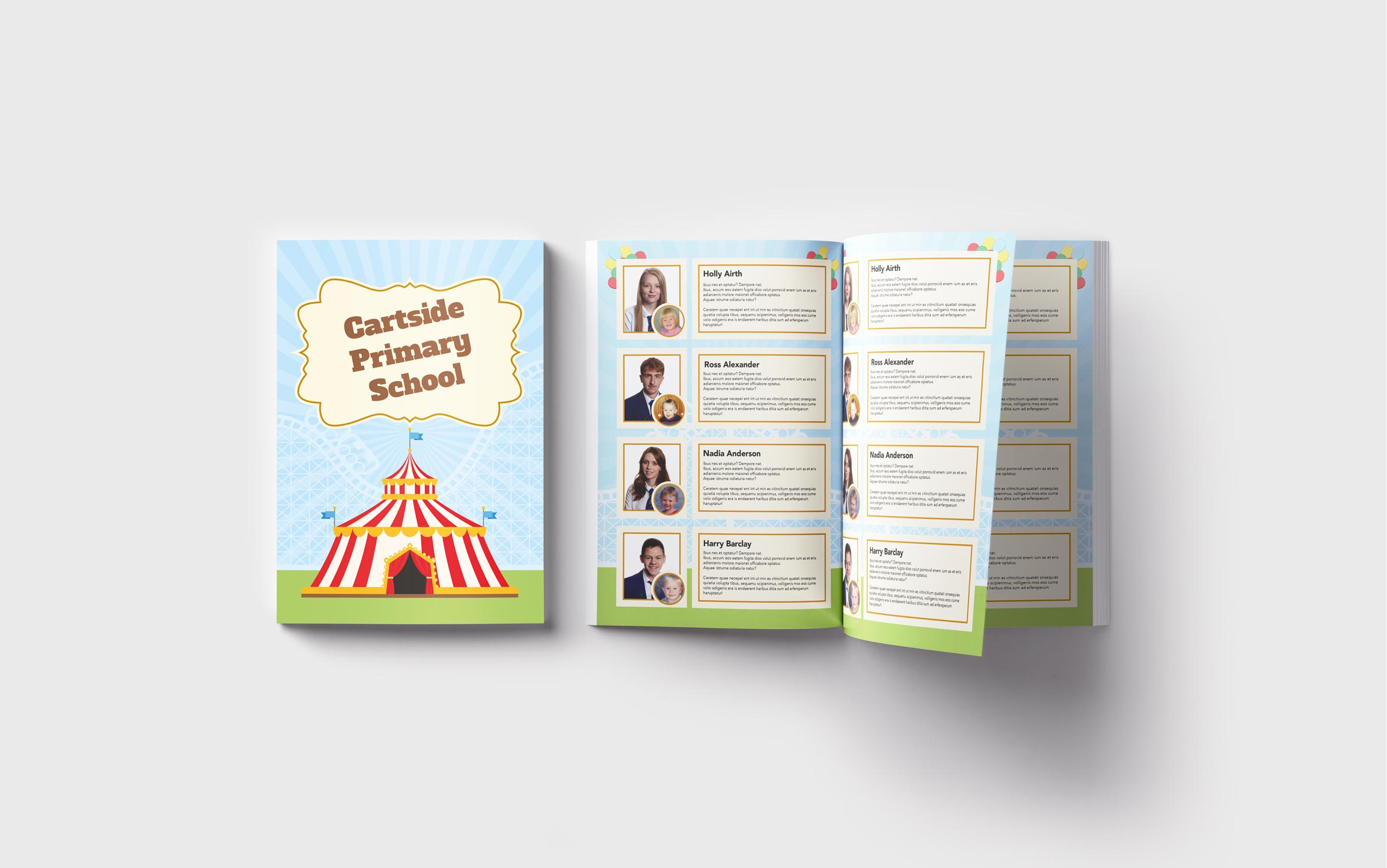 Primary Yearbooks Elephant Yearbooks Circus Mockup
