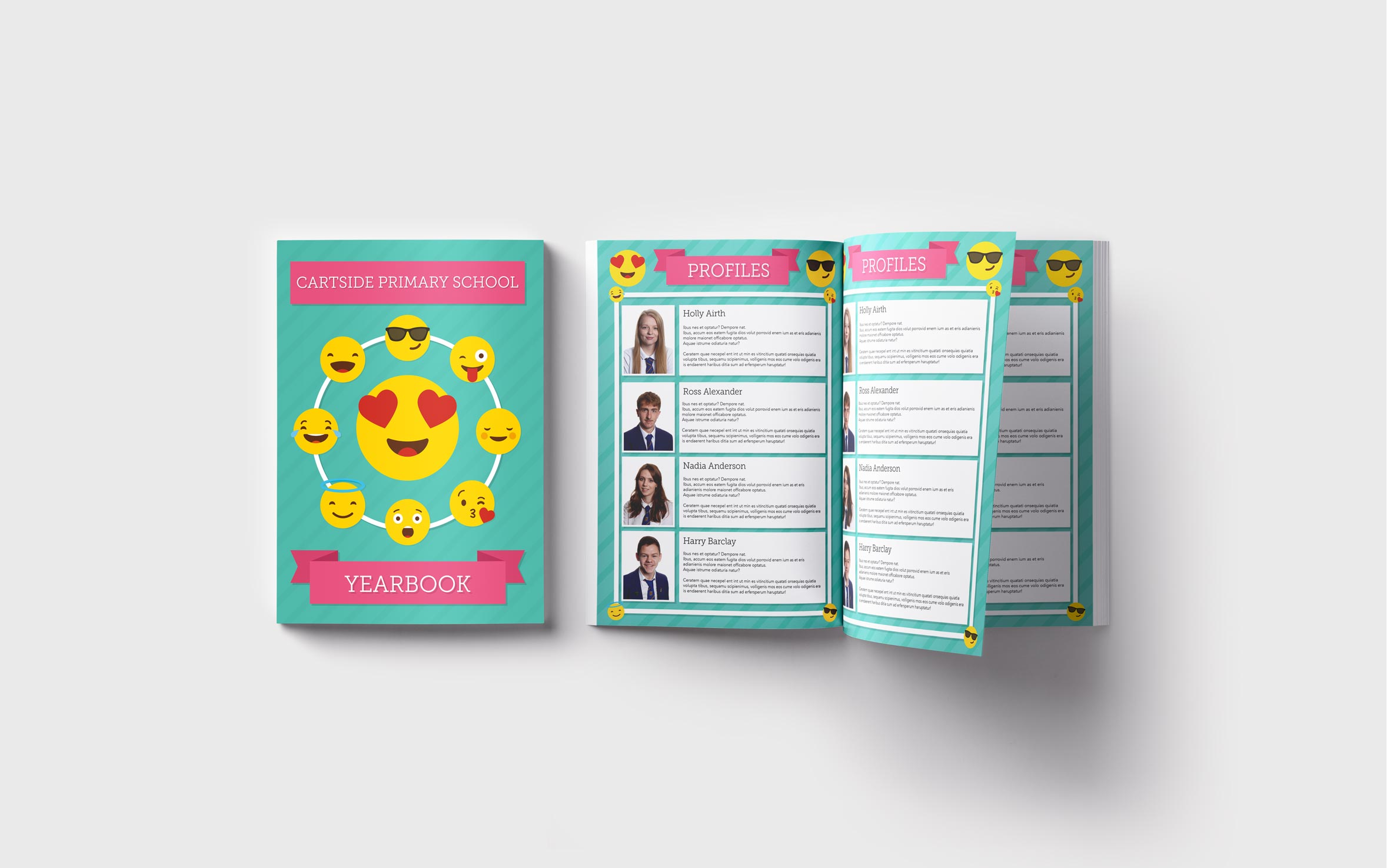 Primary Yearbooks Elephant Yearbooks Emoji Mockup
