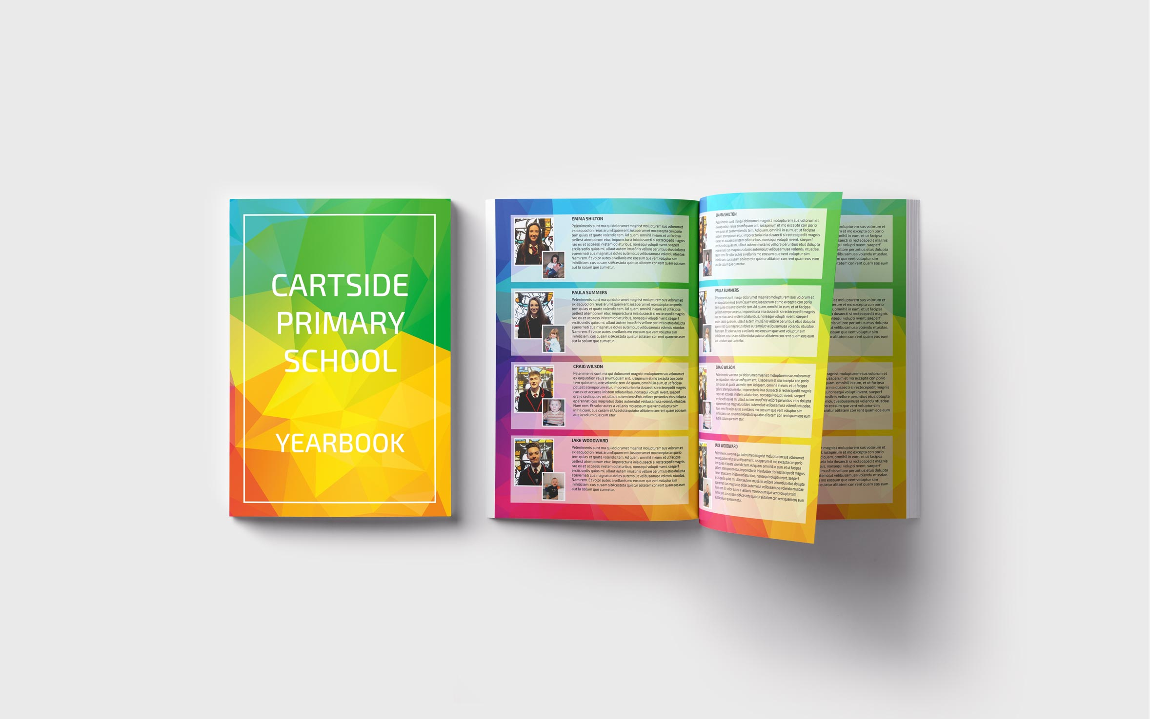 Primary Yearbooks Elephant Yearbooks Geometric Mockup