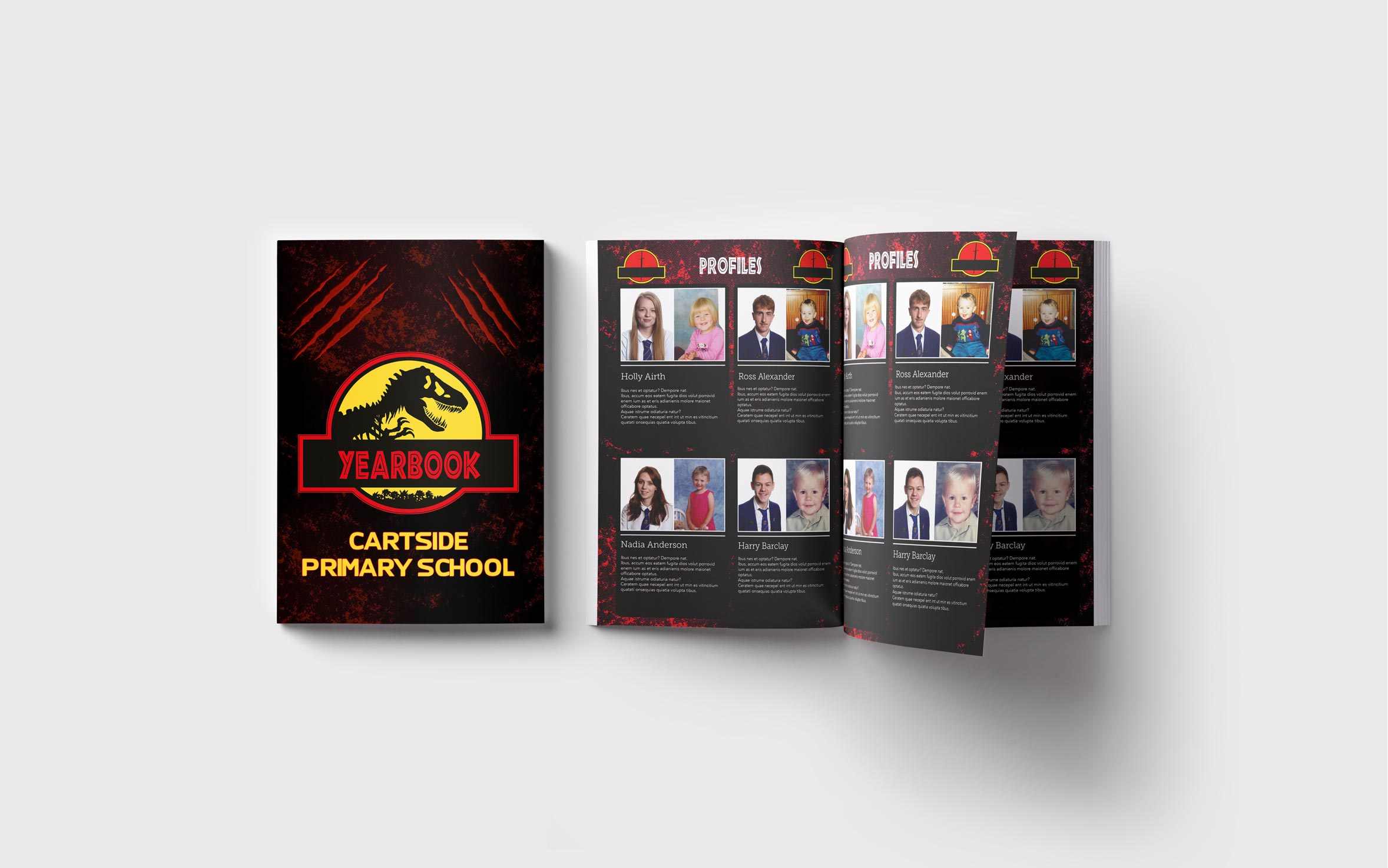 Primary Yearbooks Elephant Yearbooks Jurassic Park Mockup
