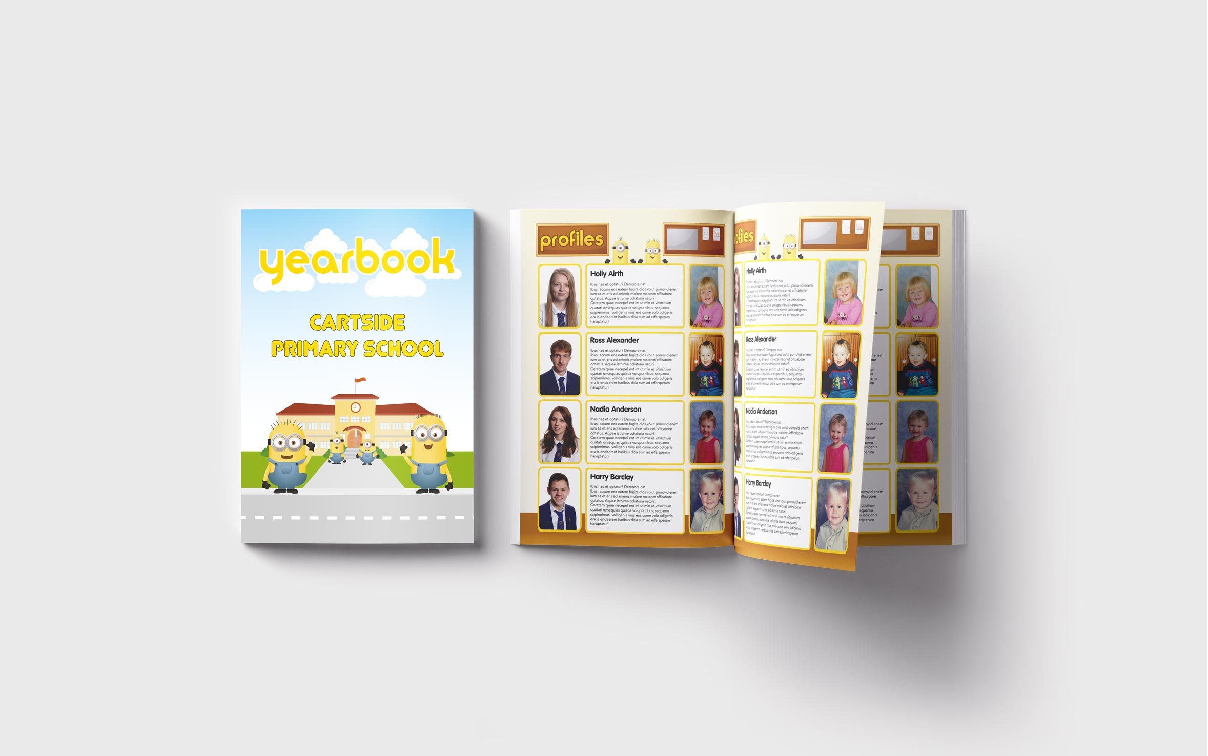 Primary Yearbooks Elephant Yearbooks Minion Mockup