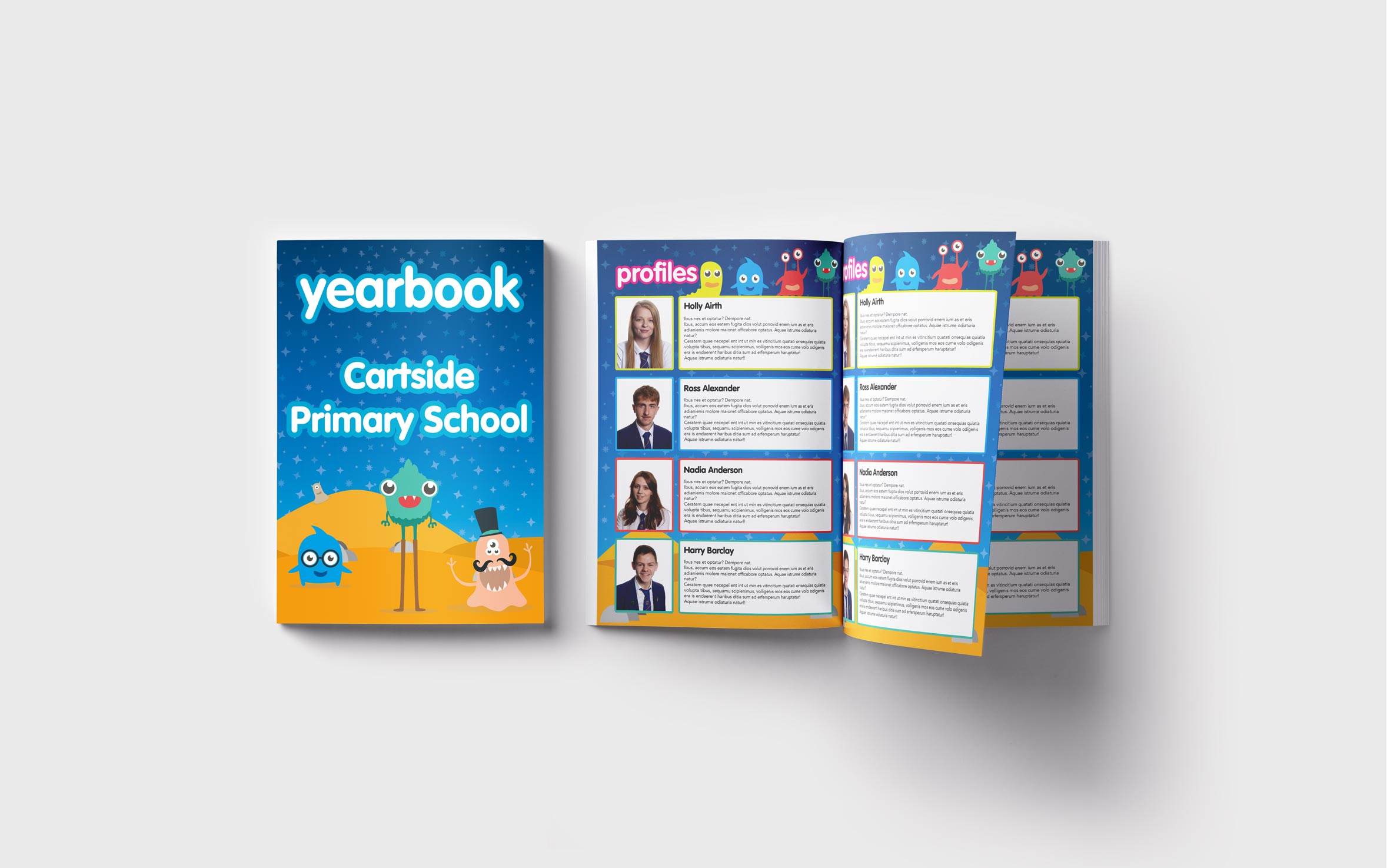 Primary Yearbooks Elephant Yearbooks Monsters Mockup