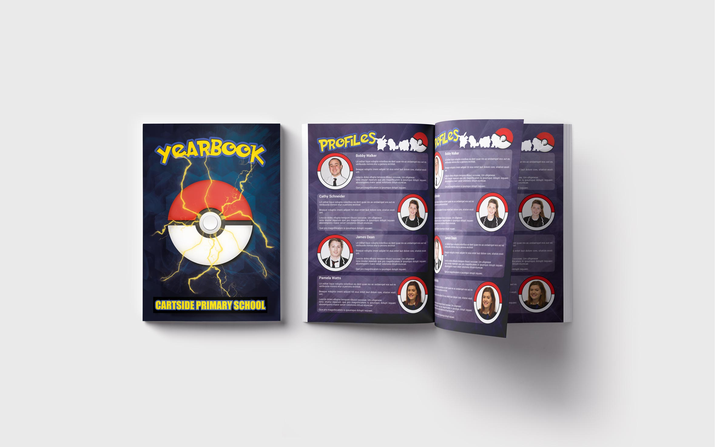 Primary Yearbooks Elephant Yearbooks Pokemon Mockup
