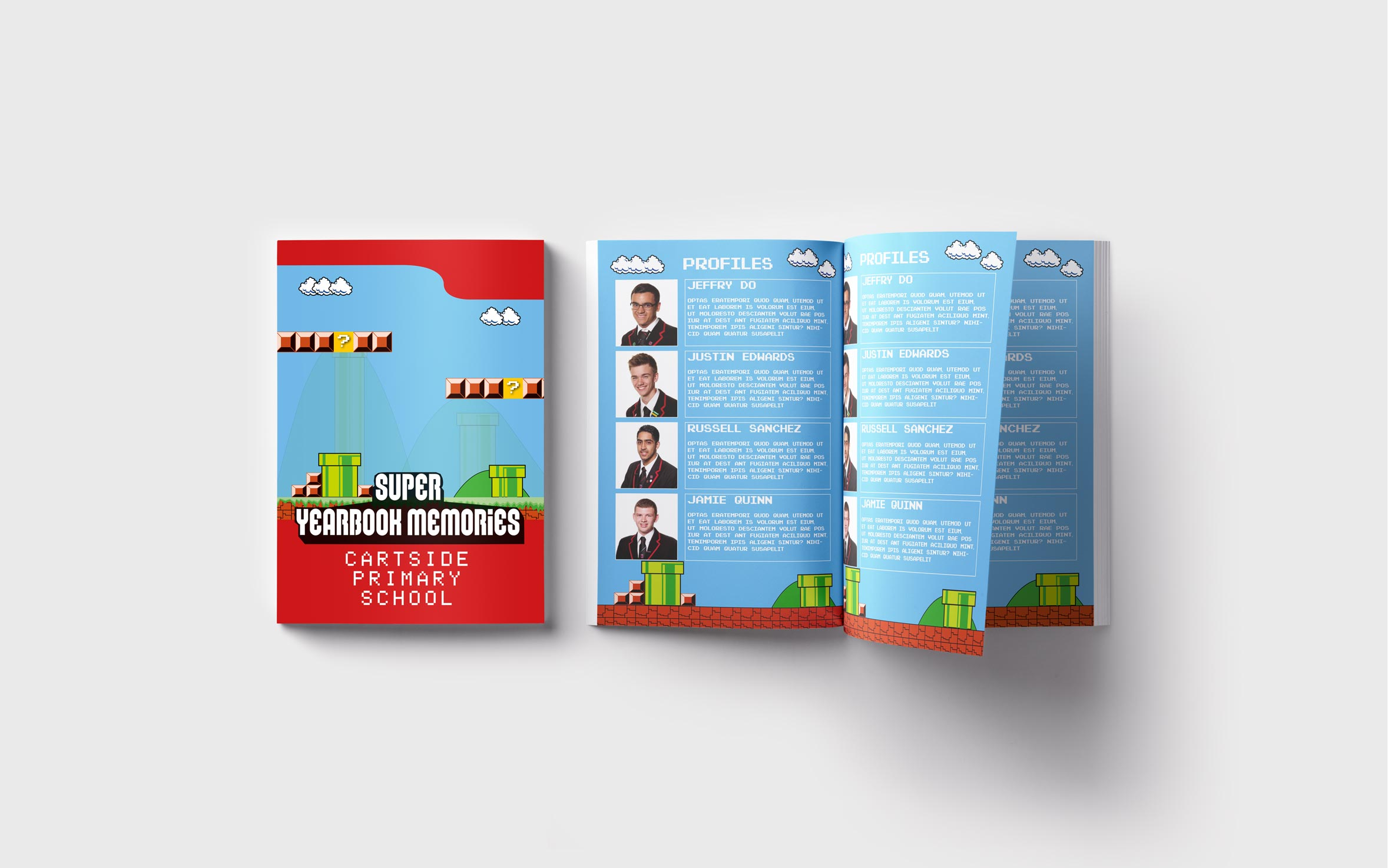 Primary Yearbooks Elephant Yearbooks Mario Mockup