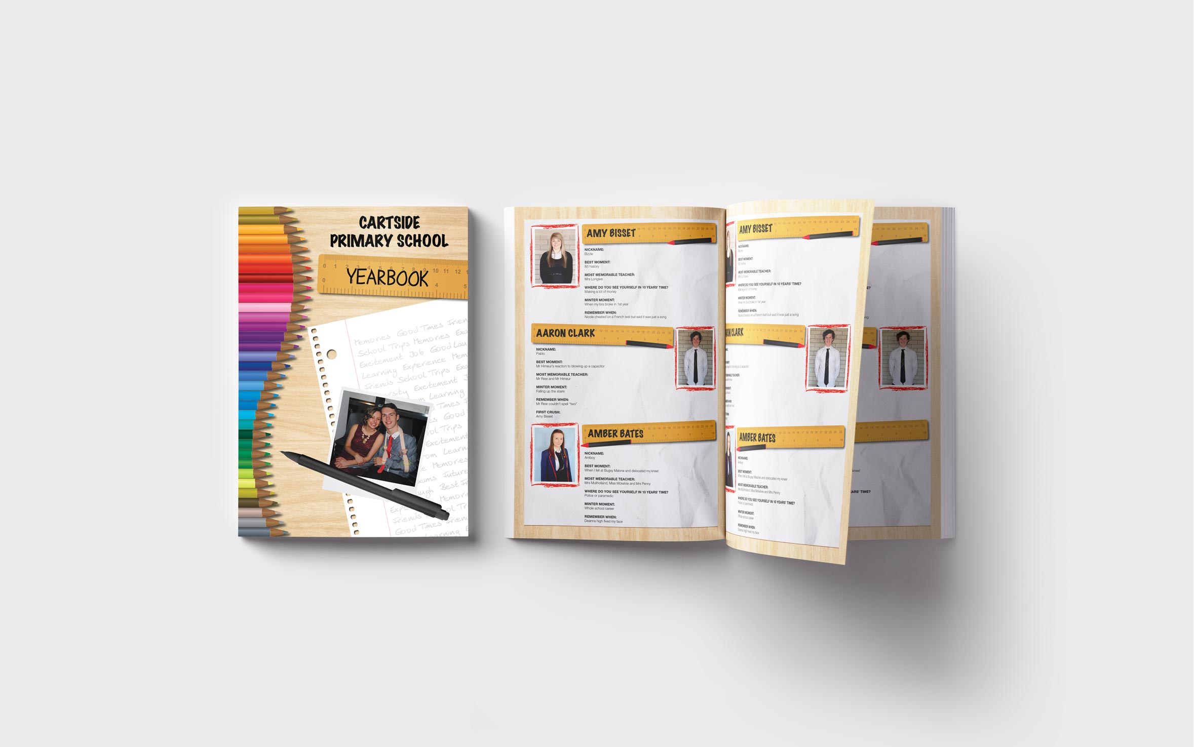 Primary Yearbooks Elephant Yearbooks Stationery Mockup
