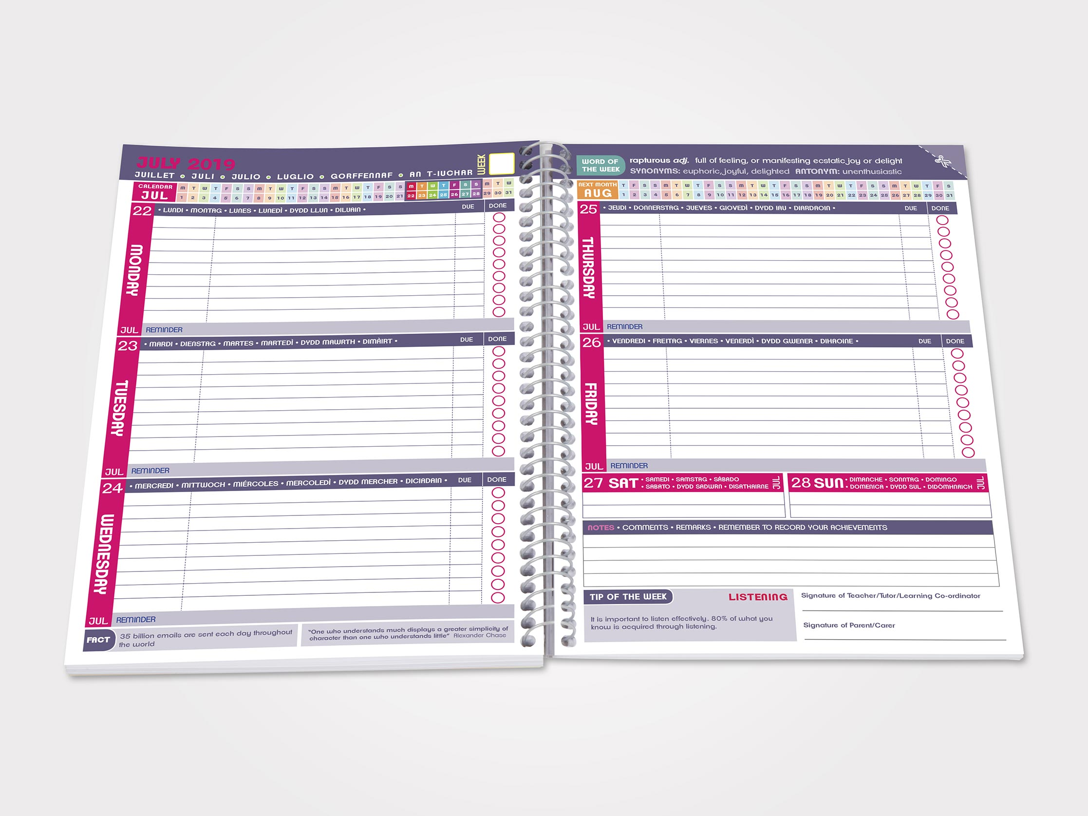 Student Planner Images Classic