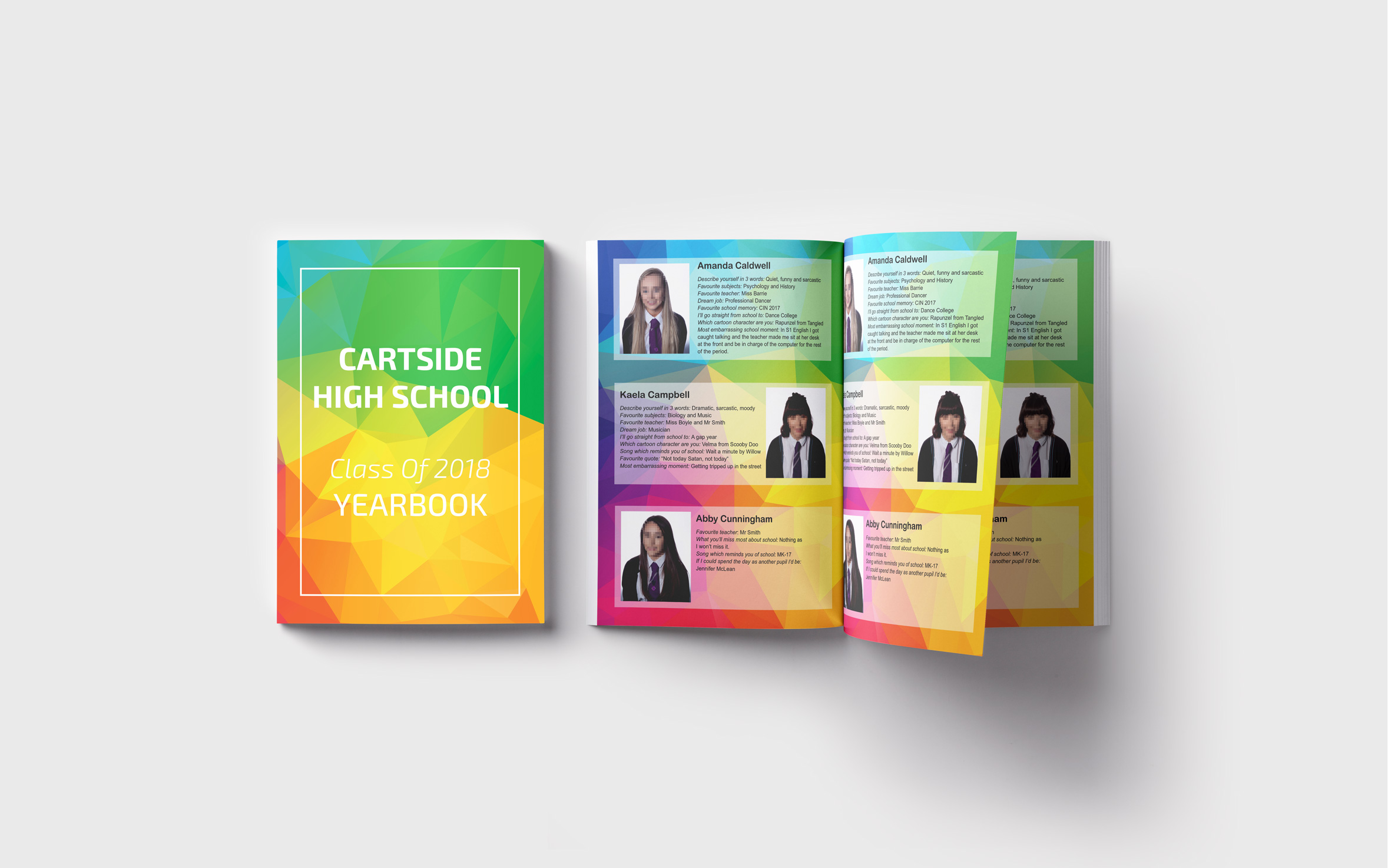 Geometric Theme Yearbook