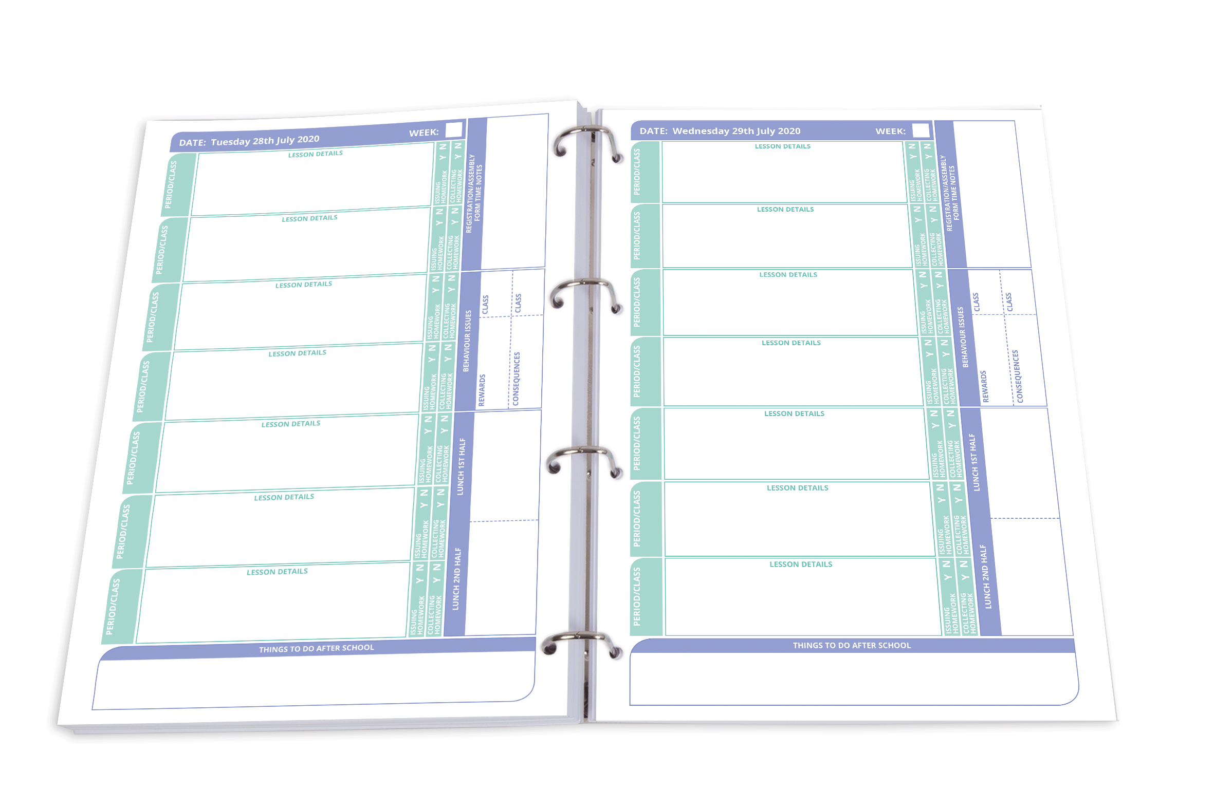 Teacher Planner New Classic Section